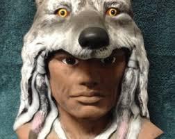 wolf headdress faux fur by easternlightstudio