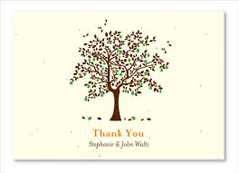 seeded paper thank you cards on plantable paper apple tree by