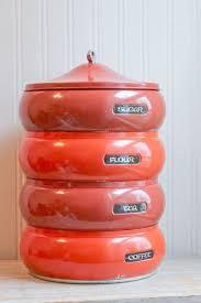 vintage retro kitchen canisters 18 best vintage canister sets images on vintage