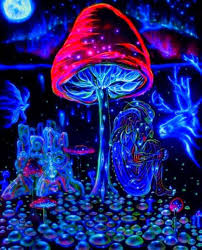 trippy bedroom decor online get cheap trippy room aliexpress the cobalt blue store cobalt blue pictures paintings posters mushrooms trippy art fabric cloth rolled wall