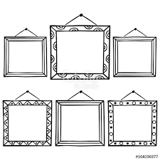 film strip background empty film frame sketch style vector