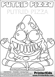 trash pack coloring pages getcoloringpages