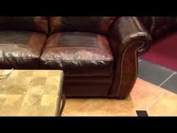 western leather sofa tuscan western leather sofa by baja leather at leathershop youtube