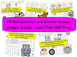 y4 y5 multiplication u0026 division over 200 differentiated word