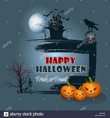 halloween raven background halloween celebration background with pumpkins raven on top of