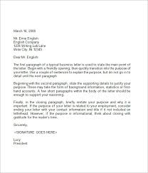 business letter format 9 free samples examples