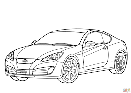 hyundai genesis coupe car hyundai genesis coupe coloring page free printable coloring pages