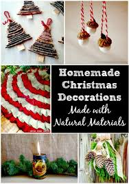 homemade christmas decorations made with natural items simplify