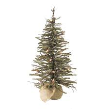 3 u0027 pre lit warsaw twig artificial christmas tree in burlap base