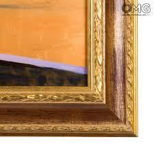 cornici a vista quadro con cornice su vetro di murano vista panoramica sulla