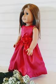 flower girl doll gift satin doll dress american girl doll dress 18 doll dress