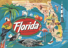 Vintage Florida Map by Newby Fun Resorts June 2016