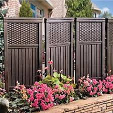 Backyard Privacy Screens by Natural 4 Panel Yard Privacy Screen 30x60 Improvements By
