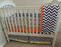gray and navy chevron baby bedding babylovin