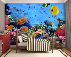 wall murals coral under the sea murals