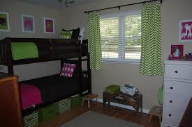 pure home decor unusual shared kids bedroom design displaying calming green white