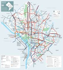 Washington Dc Area Map by Large Detailed Metrobus Route Map Of Washington D C Vidiani Com