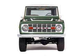ford troller this 1974 ford bronco has been restored with real wood paneling