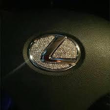 lexus emblem lexus bling steering wheel logo sticker decal carsoda