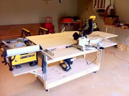Table Saw Cabinet Plans Garage Workbench Diy Workbench Plans Garage Marissa Kay Home