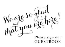 wedding guest book sign custom guest book sign sign our guest book