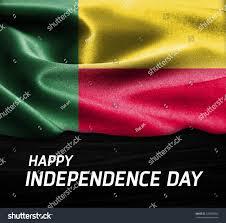 Benin Flag Happy Independence Day Benin Flag On Stock Photo 338765882