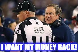 Patriots Lose Meme - strict no refund policy imgflip