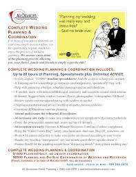 wedding planner packages wedding planning packages all occasions catering
