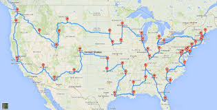 united states map with important cities this is the us road trip according to scientists