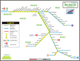 san jose light rail map los angeles ca light and heavy rail systems