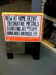 decorative sheet metal home depot home decor