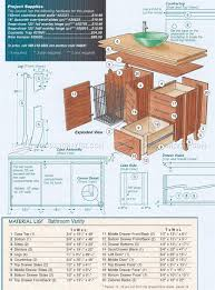 17 Bathroom Vanity by Bathroom Vanity Plans U2022 Woodarchivist