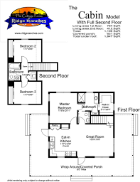 Cabin Designs And Floor Plans Floor Plan Options The Cottage Company