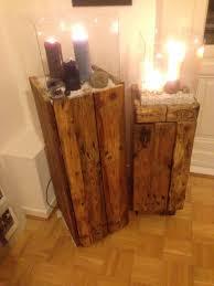 Pallet Furniture Side Table Side Cabinet Wind Light Made Of Pallets Second Attempt Pallet