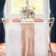rose gold sequin table runner sparkly mauve pink sequin runner for