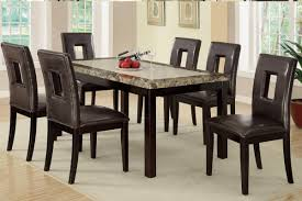 amazon com 7 pieces dining set with marble look and faux