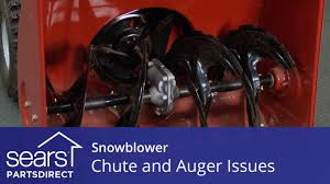 snowblower not blowing snow troubleshooting chute and auger