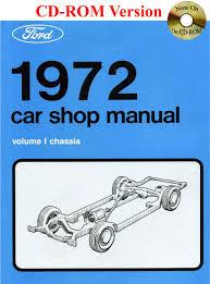 1972 ford car shop manual vol i v ford motor company david e