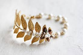 bracelet leaf images Leaf bracelet cuff brass woodland leaves branch natural bridal jpg