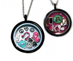 custom charm necklace locket charm necklace items similar to custom baltimore ravens