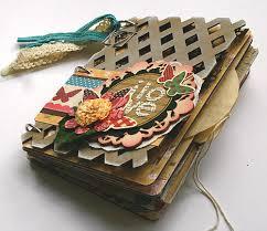 Small Scrapbook Album Mini Album Using Pink Paislee U0026 Heidi Swapp Cover Scrapbook