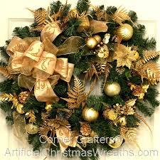 artificial christmas wreaths golden splendor christmas wreath artificialchristmaswreaths