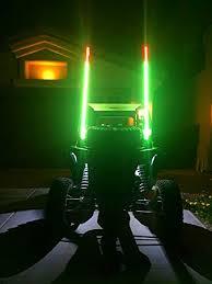led light whip for atv amazon com lumitek 5ft led whip atv utv truck green led whip light