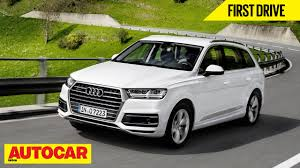 audi jeep 2015 2015 audi q7 first drive autocar india youtube
