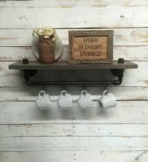 rustic metal shelves kitchen shelves industrial shelf