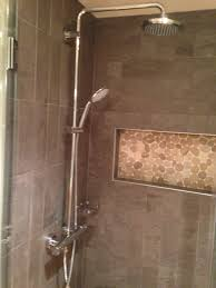 hans grohe shower system niche with schluter edge profile u0026 flat