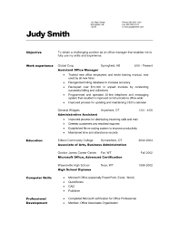 Examples Of Office Manager Resumes by Manager Resume Objective Sample Template Design