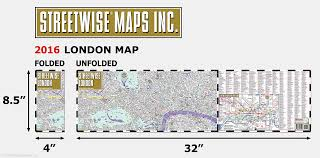 Brown Line Chicago Map by Streetwise London Map Laminated City Center Street Map Of London