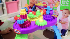 Little Tikes Play Table Little Tikes Giggly Gears Twirltable Review Youtube