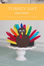 thanksgiving crafts turkey and pilgrim hats the un